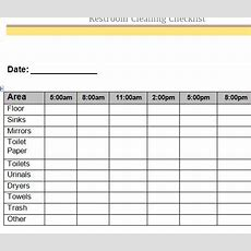 Restroom Cleaning Checklist  My Excel Templates