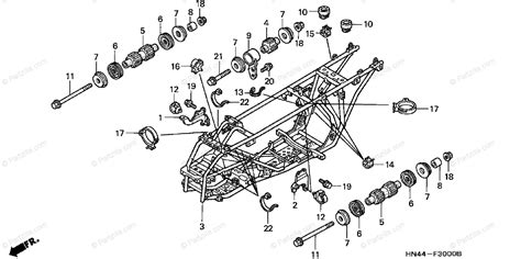 honda atv 2001 oem parts diagram for frame partzilla