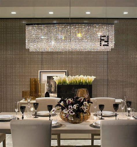 contemporary luxury rectangular linear island dining room