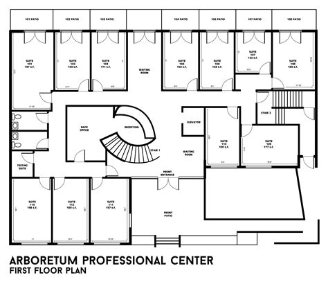 building floor plans arboretum professional center