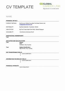 Resume Cover 40 Blank CV Template To Print Cv Form