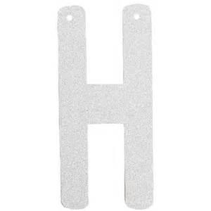 glitter letter banner garland 6inch silver letter h With silver letter banner