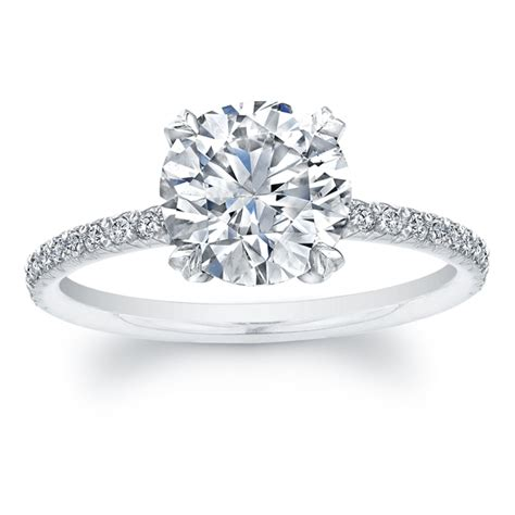 band engagement rings solitaire engagement rings