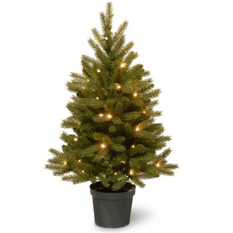 battery operated tree lights national tree company 3 ft jersey fraser fir artificial