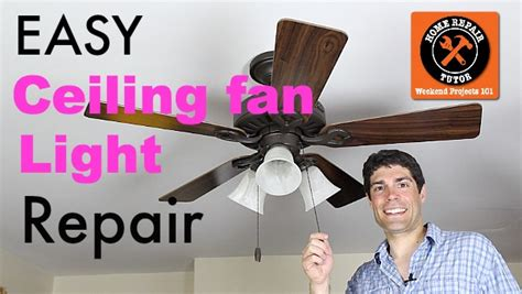 how to fix a ceiling fan light ceiling fan light repair save 90 in 10 minutes home
