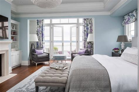 Purple And Gray Bedroom Sitting Area-contemporary