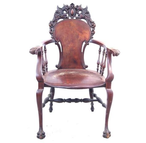 american mahogany antique claw foot arm chair
