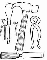Coloring Pages Tool Tools Printable Carpentry Boys Clipartmag Fun sketch template