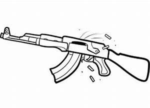 How to Draw a bullet | how to draw an ak 47 assault rifle ...