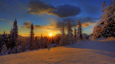 Winter Sunset Hd Wallpaper (50+ Images