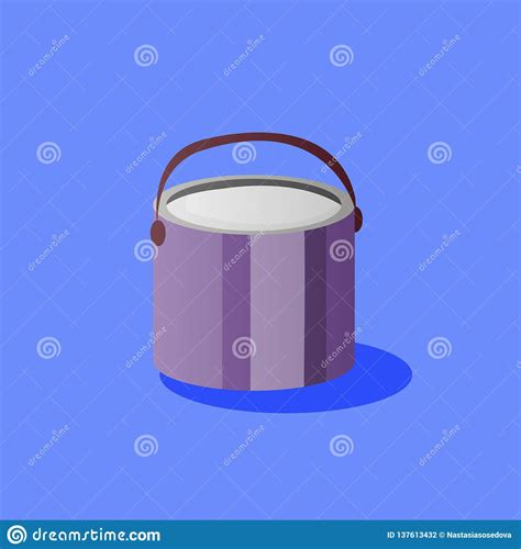 More than 100 categories, over 5000 mockups. Paint bucket with handle stock vector. Illustration of ...