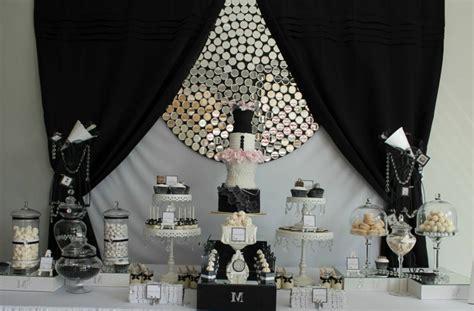 Decoration Noir Et Blanc Anniversaire