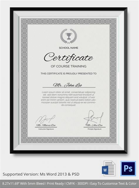 it courses free with certificate 23 certificate templates sles exles