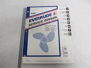 1980 Evinrude Outboard Service Manual 25  U0026 35 Hp