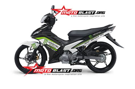 modif striping yamaha new jupiter mx black new energy motoblast