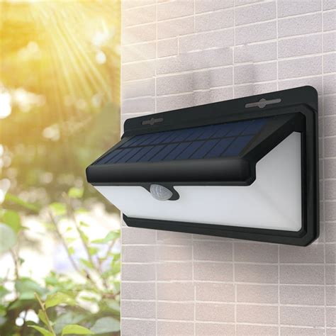 arilux 4 4w 100 led solar pir motion sensor wall light