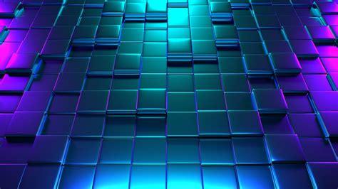 3d Blue Wallpaper by Wallpaper Cubes 3d Neon Glow Blue Pink 4k Abstract