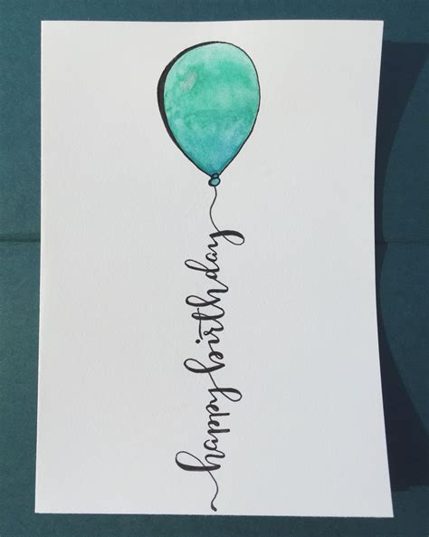 happy birthday  calligraphy hand lettering metallic