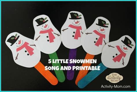 5 snowmen song and printable puppets 4k winter 732   db10a6797077c1c592fcf8c37f7b5cfb