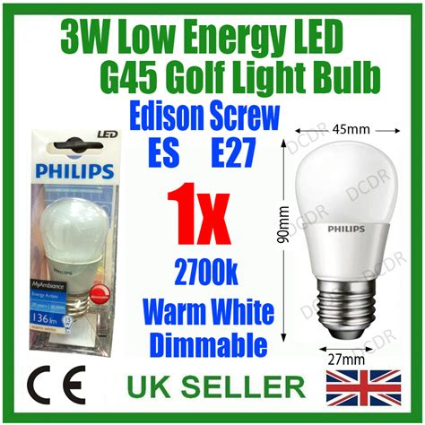 1x 3w philips dimmable top quality led golf light bulb es