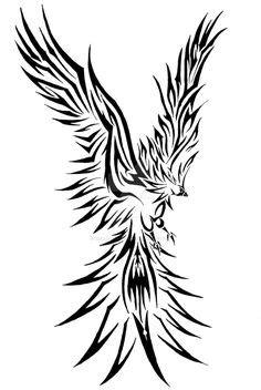 tribal tattoo stencils   Tribal Storm Phoenix by ~Sakashima on deviantART   Tribal tattoos