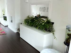 Diy beauteous white wall home design with green house for Interior design grass wall