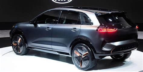 Electric Vehicle Suv by Kia Unveils New All Electric Compact Suv Concept Ahead Of