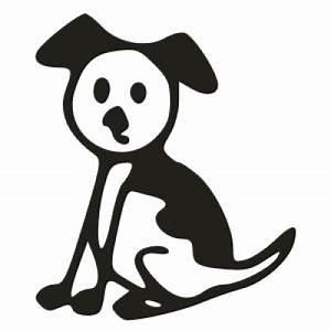 Dog Stick Figure Family Vinyl Decal Sticker 3