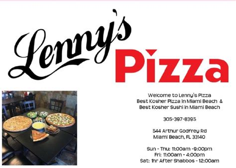 lennys pizza capt hyman p galbut jewish learning center chabad