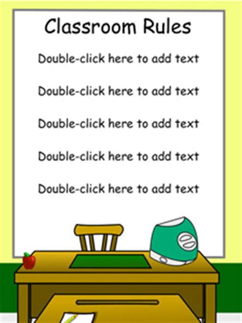 classroom rules template 8 first projects to get students using technology