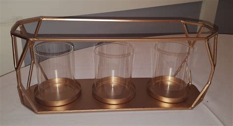 rectangle candle holder candle holder rectangle gold linens and events