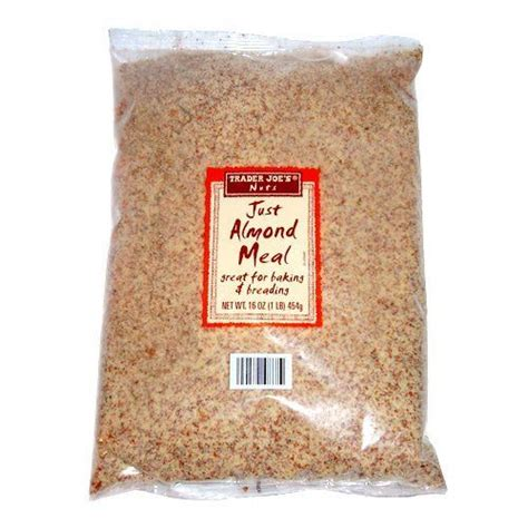 almond meal trader joe s just almond meal the best flour substitute its ground almonds i always do half