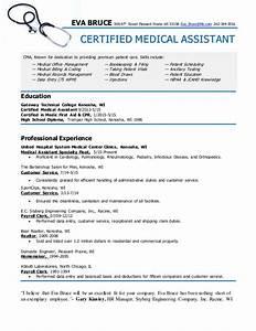 certified medical assistant resume eva bruce With certified medical assistant resume samples