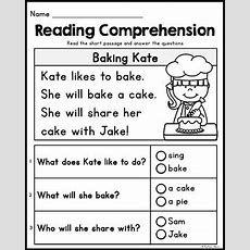 Free Kindergarten Reading Comprehension Passages  Set 2 By Kaitlynn Albani