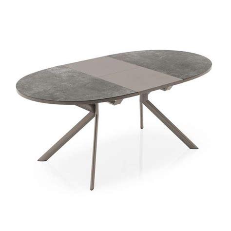 table de cuisine extensible table ovale extensible en céramique giove connubia 4