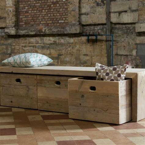 banc de cuisine en bois le banc de rangement un meuble fonctionnel qui