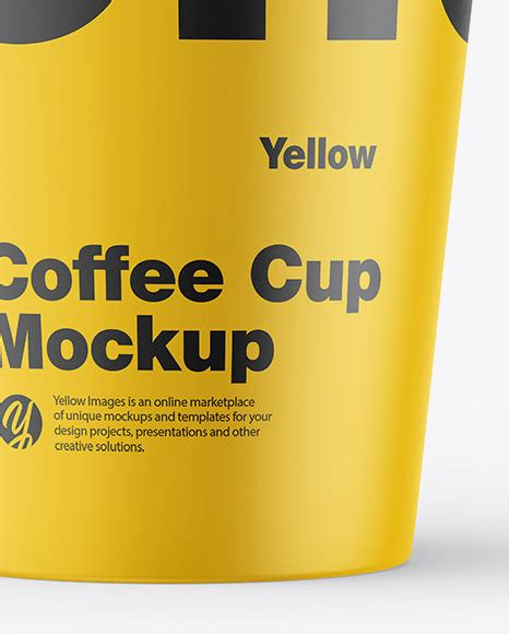 This mockup is available for purchase only on yellow images. Matte Coffee Cup Mockup in Cup & Bowl Mockups on Yellow ...