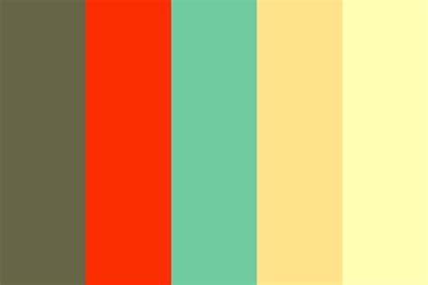 60s colors retro color palette