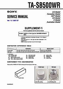 Sony Ta-sb500wr Service Manual