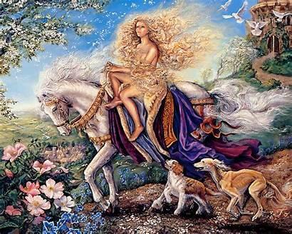 Spring Horse Fairy Wallpapers Desktop Wallpapersafari Lady