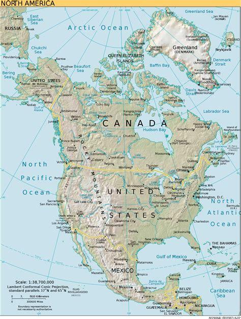 Carte Du Monde Continent Americain by Am 233 Rique Du Nord Pays D 233 Mographie R 233 Partition Pays Du