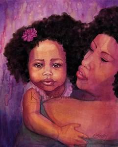 NEW Sweet Girl 5x7 African American art print