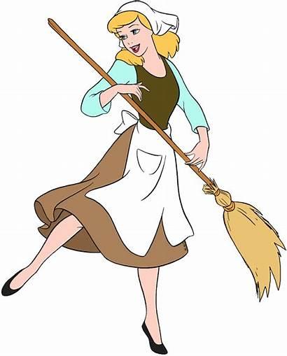 Cinderella Disney Clipart Maid Broom Clip Transparent
