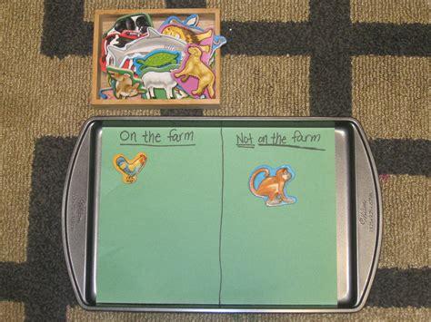 the preschool experiment farm theme tot trays 953   20111107 1745
