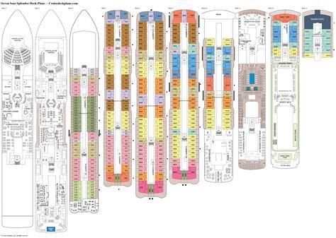 seas splendor deck plans diagrams pictures video