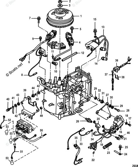 mercury mercury mariner outboard parts by hp liter 9 9hp oem parts diagram for ignition