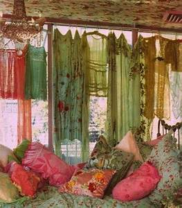 A lovely, romantic bedroom with gypsy boho flair ...