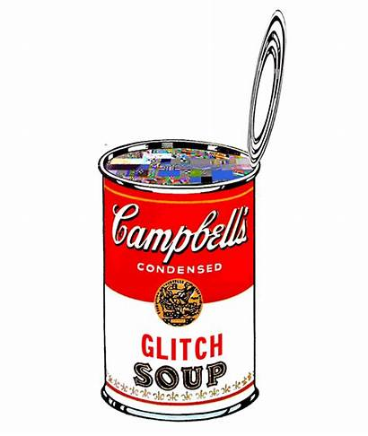 Soup Glitch Warhol Andy Gifs Campbell Campbells