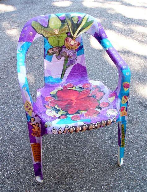 decoupage sedie decoupage su plastica sedia in plastica con carta