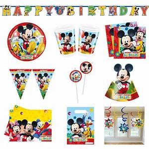 Mickey Mouse Geburtstag : disney mickey mouse wunderhaus micky maus party set geburtstag deko set neu ebay ~ Orissabook.com Haus und Dekorationen